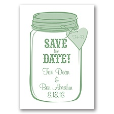 Mason Jar - Clover - Save the Date