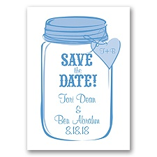 Mason Jar - Cornflower - Save the Date