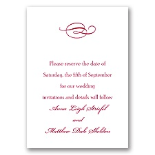 Classic Save the Date Card with Design