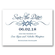 Sweetly Starfish - Marine - Save the Date
