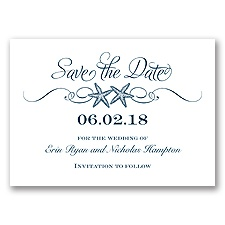 Sweetly Starfish - Peacock - Save the Date