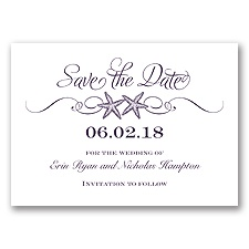Sweetly Starfish - Plum - Save the Date