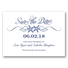 Sweetly Starfish - Regency - Save the Date