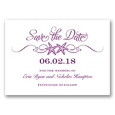 Sweetly Starfish - Sangria - Save the Date