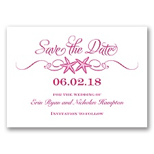 Sweetly Starfish - Watermelon - Save the Date