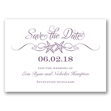 Sweetly Starfish - Wisteria - Save the Date