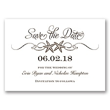 Sweetly Starfish - Chocolate - Save the Date