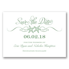 Sweetly Starfish - Clover - Save the Date