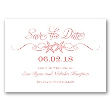 Sweetly Starfish - Coral Reef - Save the Date