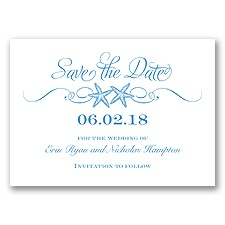Sweetly Starfish - Cornflower - Save the Date