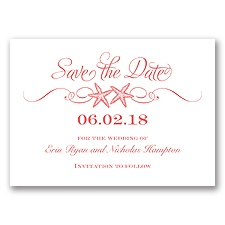 Sweetly Starfish - Guava - Save the Date