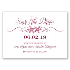 Sweetly Starfish - Apple - Save the Date