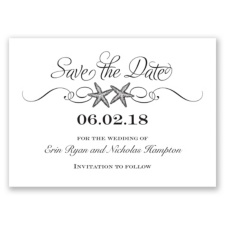 Sweetly Starfish - Black - Save the Date
