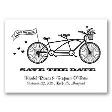 Tandem Bike - Black - Save the Date
