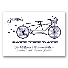 Tandem Bike - Lapis - Save the Date