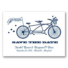 Tandem Bike - Marine - Save the Date