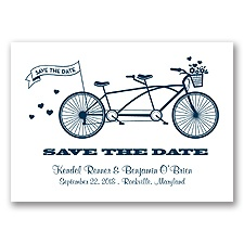 Tandem Bike - Peacock - Save the Date