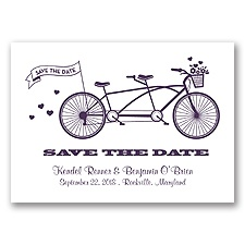 Tandem Bike - Plum - Save the Date