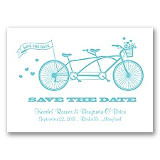Tandem Bike - Pool - Save the Date