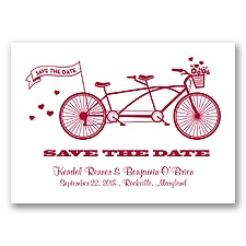 Tandem Bike - Apple - Save the Date