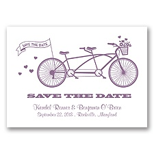 Tandem Bike - Wisteria - Save the Date