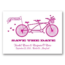 Tandem Bike - Begonia - Save the Date