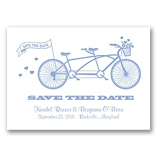 Tandem Bike - Bluebird - Save the Date