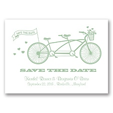 Tandem Bike - Meadow - Save the Date