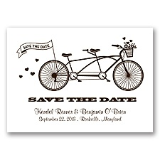 Tandem Bike - Chocolate - Save the Date