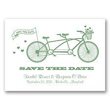 Tandem Bike - Clover - Save the Date