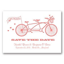 Tandem Bike - Coral Reef - Save the Date