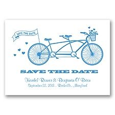 Tandem Bike - Cornflower - Save the Date