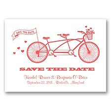 Tandem Bike - Guava - Save the Date