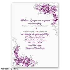 Bridal Lace - Sangria - Invitation