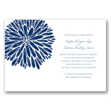 Burst of Color - Marine - Invitation