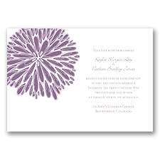Burst of Color - Wisteria - Invitation