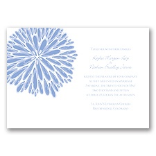 Burst of Color - Bluebird - Invitation