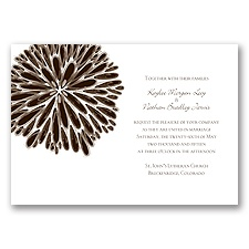 Burst of Color - Chocolate - Invitation
