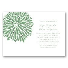 Burst of Color - Clover - Invitation