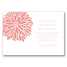 Burst of Color - Coral Reef - Invitation