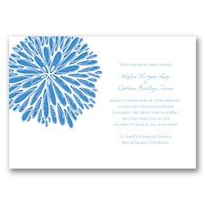 Burst of Color - Cornflower - Invitation
