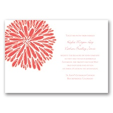 Burst of Color - Guava - Invitation