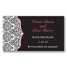 Stylish Damask - Guava - Save the Date Magnet