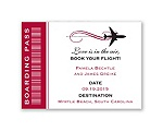 Boarding Pass - Save The Date Magnet