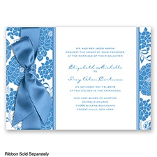 Floral Patterned - Cornflower - Invitation