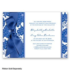 Floral Patterned - Horizon - Invitation
