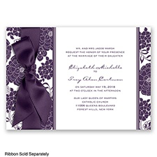 Floral Patterned - Plum - Invitation