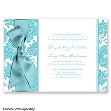 Floral Patterned - Pool - Invitation