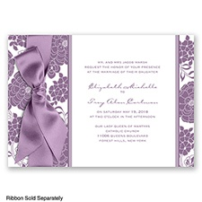 Floral Patterned - Wisteria - Invitation
