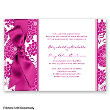 Floral Patterned - Begonia - Invitation